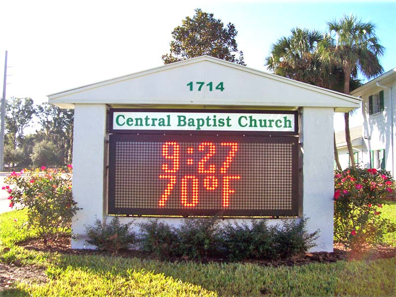 Central Baptist Church Monument Sign