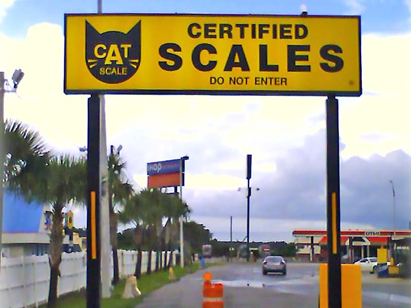 Certified Scales Pylon Sign