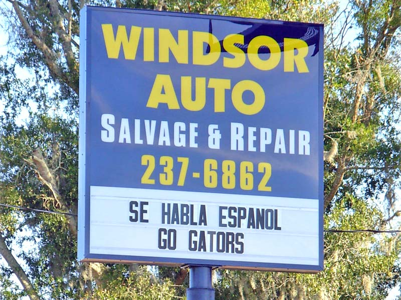 Windsor Auto Salvage & Repair Pole Sign